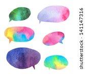 watercolor speech bubbles.... | Shutterstock . vector #141147316