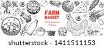 good food store design concept. ... | Shutterstock .eps vector #1411511153