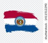 flag of  missouri from brush...