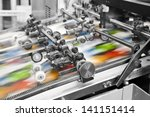 close up of an offset printing... | Shutterstock . vector #141151414