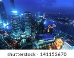 view from the oriental pearl tv ... | Shutterstock . vector #141153670
