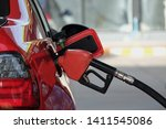 Fuel Nozzle Filled Car With...