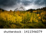 Stormy Fall Mountains Yellow...