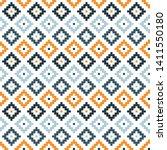 orange and white kilim seamless ... | Shutterstock .eps vector #1411550180