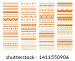 festive border  pattern set.... | Shutterstock .eps vector #1411550906