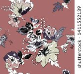 seamless pattern with spring... | Shutterstock .eps vector #1411552139
