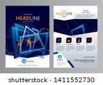 vector business brochure design ... | Shutterstock .eps vector #1411552730