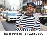 candid of man walking around... | Shutterstock . vector #1411553630