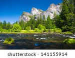 three brothers rock with merced ... | Shutterstock . vector #141155914