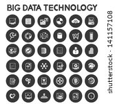 big data technology icons set ... | Shutterstock .eps vector #141157108