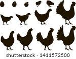 vector illustration. a set of... | Shutterstock .eps vector #1411572500