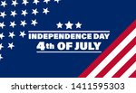 fourth of july independence day ... | Shutterstock .eps vector #1411595303