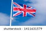 Flag Of Great Britain Waving...