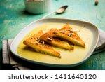 shahi tukra tukda or double ka...   Shutterstock . vector #1411640120