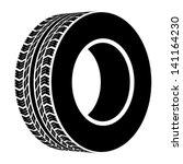 vector black terrain tyre symbol | Shutterstock .eps vector #141164230