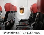 premium red and black seat in... | Shutterstock . vector #1411647503
