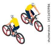 isometric modern electric... | Shutterstock .eps vector #1411650986