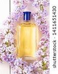 yellow bottle of women's...   Shutterstock . vector #1411651430
