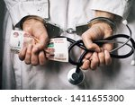 Doctor With Money In Handcuffs...