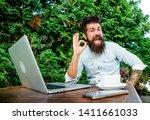 remote job. freelance... | Shutterstock . vector #1411661033