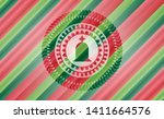 tombstone icon inside christmas ... | Shutterstock .eps vector #1411664576