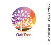 tree stylized symbol  logo or... | Shutterstock .eps vector #1411679510