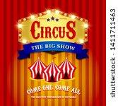 circus tent. fun fair poster.... | Shutterstock . vector #1411711463
