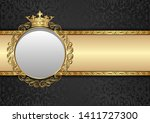 antique background with royal... | Shutterstock .eps vector #1411727300