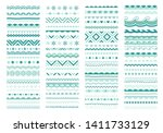 christmas ornamental border ... | Shutterstock .eps vector #1411733129