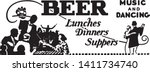 beer lunches dinners suppers  ... | Shutterstock .eps vector #1411734740