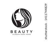 beauty  salon  spa logo template | Shutterstock .eps vector #1411744829