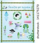 set vector spa icons | Shutterstock .eps vector #141175270