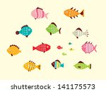 cute fish vector | Shutterstock .eps vector #141175573