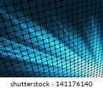 Blue Rays Light 3d Mosaic. Eps...