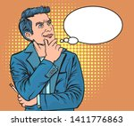 he used the idea to review | Shutterstock .eps vector #1411776863
