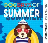 dogs days of summer time for...   Shutterstock .eps vector #1411780709