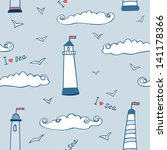 sea seamless pattern | Shutterstock .eps vector #141178366