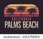 california palms beach graphic... | Shutterstock .eps vector #1411796993