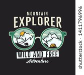 mountain explorer graphic for t ... | Shutterstock .eps vector #1411796996