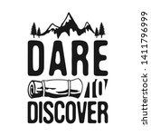 dare to discover   camp... | Shutterstock .eps vector #1411796999
