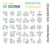 set of vector line icons of... | Shutterstock .eps vector #1411814510