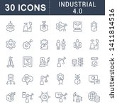 set of vector line icons of... | Shutterstock .eps vector #1411814516