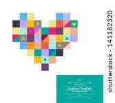 multicolored heart.   Shutterstock .eps vector #141182320