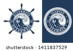 vector sea and ocean emblems... | Shutterstock .eps vector #1411837529