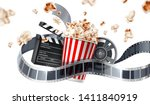 realistic cinema advertising... | Shutterstock .eps vector #1411840919