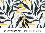 tropical  pattern with palm... | Shutterstock .eps vector #1411841219