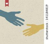 abstract hand shake. raster... | Shutterstock . vector #141184819