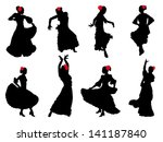 art,backdrop,background,black,card,character,collection,dance,dancer,draw,drawing,elegance,element,eps 10,flamenco