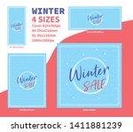 winter sale banner pack...   Shutterstock .eps vector #1411881239