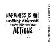 happiness quotes for happy life   Shutterstock . vector #1411889519